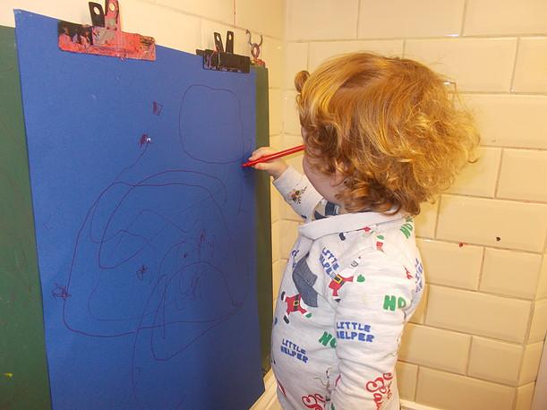 Drawing in the Art corner